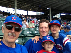 At Cubs game